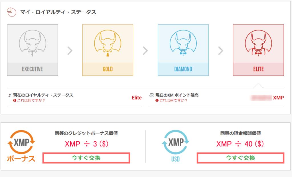 XMPポイントの注意事項