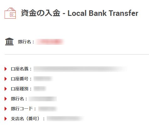国内銀行振込を使ったXMへの入金